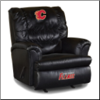 Calgary Flames NHL Big Daddy Leather Rocker Recliner