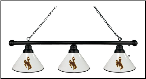 Wyoming Cowboys 3 Shade Pool Table Light W