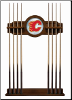 Calgary Flames Pool Cue Rack