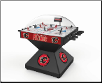 Calgary Flames Deluxe Dome Bubble Hockey Table