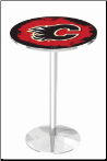 Calgary Flames L214 Chrome Pub Table