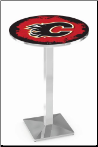 Calgary Flames L217 Chrome Pub Table