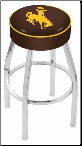 Wyoming Cowboys L8C1 Bar Stool