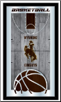 Wyoming Cowboys Basketball Logo Mirror