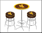 Wyoming Cowboys Pub Table Set