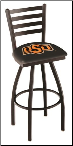 Oklahoma State Cowboys L014BW Bar Stool