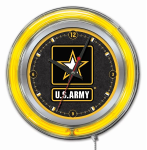 US Army Military Neon Clock