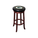 Green Bay Packers NFL Wooden Legs Bar Stool