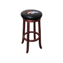 Denver Broncos NFL Wooden Legs Bar Stool