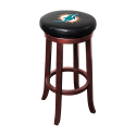 Miami Dolphins NFL Wooden Legs Bar Stool