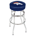 Denver Broncos Bar Stool w/ Retro Style Base