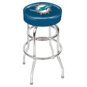 Miami Dolphins Bar Stool w/ Retro Style Base
