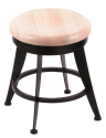 "900 Laser 18"" Vanity Stool w/ Natural Maple Seat and 360 Swivel"