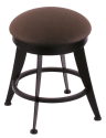 "900 Laser 18"" Vanity Stool w/ Rein Coffee Seat and 360 Swivel"
