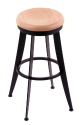 900 Laser Stool with Natural Oak Seat, 360 Swivel