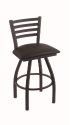 XL 410 Jackie Stool with Allante Espresso Seat and 360 Swivel