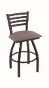XL 410 Jackie Stool with Allante Medium Grey Seat and 360 Swivel
