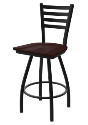 XL 410 Jackie Stool with Dark Cherry Maple Seat and 360 Swivel