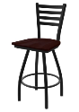 XL 410 Jackie Stool with Dark Cherry Oak Seat and 360 Swivel