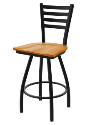 XL 410 Jackie Stool with Medium Oak Seat and 360 Swivel