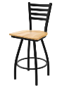 XL 410 Jackie Stool with Natural Maple Seat and 360 Swivel