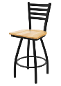 XL 410 Jackie Stool with Natural Oak Seat and 360 Swivel