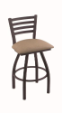 XL 410 Jackie Stool with Rein Thatch Seat and 360 Swivel