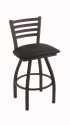 XL 410 Jackie Stool with Black Vinyl Seat and 360 Swivel