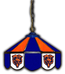 "Chicago Pub Light w/ Bears Logo - 14"" Stained Glass"