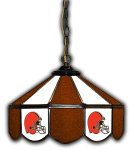 "Cleveland Pub Light w/ Browns Logo - 14"" Stained Glass"