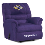 Baltimore Ravens Big Daddy Microfiber Rocker Recliner