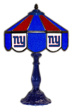 "New York 21"" Table Lamp w/ Giants Logo - Stained Glass"