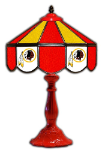 "Washington 21"" Table Lamp w/ Redskins Logo - Stained Glass"
