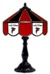 "Atlanta 21"" Table Lamp w/ Falcons Logo - Stained Glass"