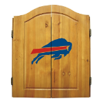 Buffalo Dart Board w/ Bills Logo - Solid Pine Cabinet