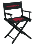 Arkansas Razorbacks NCAA Table Height Directors Chair