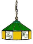 "Baylor Pub Light w/ Bears Logo - 14"" Stained Glass"