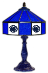 "Penn State 21"" Table Lamp w/ Nittany Lions Logo - Stained Glass"