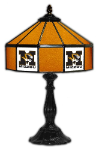 "Missouri 21"" Table Lamp w/ Tigers Logo - Stained Glass"