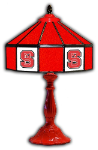 "NC State 21"" Table Lamp w/ Wolfpack Logo - Stained Glass"