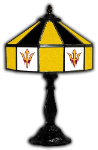 "Arizona State 21"" Table Lamp w/ Sun Devils Logo - Stained Glass"