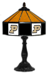 "Purdue 21"" Table Lamp w/ Boilermakers Logo - Stained Glass"