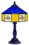 "Marquette 21"" Table Lamp w/ Golden Eagles Logo - Stained Glass"