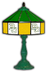 "Baylor 21"" Table Lamp w/ Bears Logo - Stained Glass"