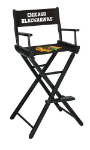 Chicago Blackhawks NHL Bar Height Directors Chair