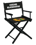 Chicago Blackhawks NHL Table Height Directors Chair