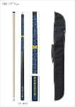 Michigan Pool Cue w/ Wolverines Logo - Carrying Case