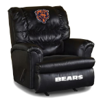 Chicago Bears Big Daddy Leather Rocker Recliner