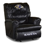 Baltimore Ravens Big Daddy Leather Rocker Recliner