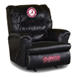Alabama Crimson Tide NCAA Big Daddy Leather Rocker Recliner